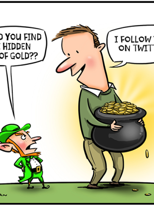 leprechaun and gold